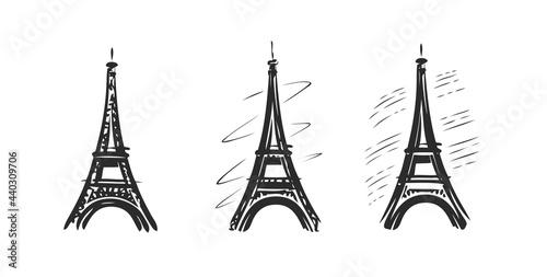 Eiffel Tower symbol. Paris, France emblem. Vector illustration Fototapet