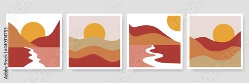 Canvas Abstract landscape decorative illustrations