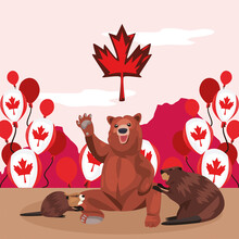 Canada Day Animals