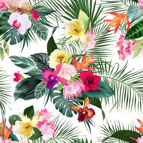 Tapety Tropikalne  egzotyczne-tropikalne-kwiaty-orchidea-strelicja-hibiskus-protea-ylang-ylang-palma-monstera-pozostawia-wektor-wzor-druk-slubny-w-lesie-dzungli-zielen-wyspy-izolowane-i-edytowalne