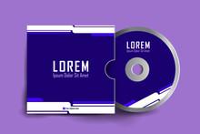 Cd Cover Design Template. Cd Cover Design Template. Luxury, Modern, Elegant, Professional Minimalist Business Cd Cover With Disk Label Design. Vector Illustration