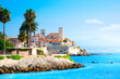 View of the city of Antibes, Provence, Cote d'Azur, a popular travel destination in Europe