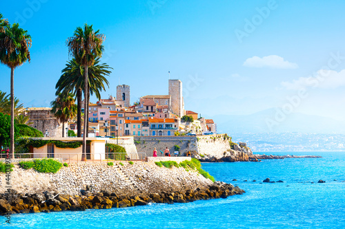 фотография View of the city of Antibes, Provence, Cote d'Azur, a popular travel destination