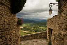 Francia, Gordes, Vista Panorámica, Valle, Vegetación,  Naturaleza, Viajar