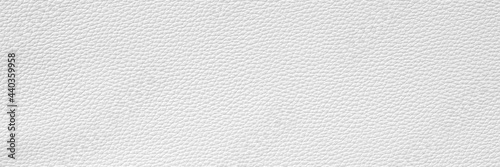 Fototapeta White leather and texture background. Wide banner