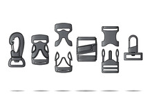 Side Release Buckles And Clips Design Template