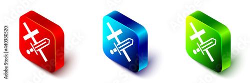 Fotografia Isometric Crusade icon isolated on white background