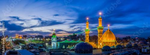 Canvastavla The shrine of Al-Abbas, the son of the Commander of the Faithful, in Karbala, Ir