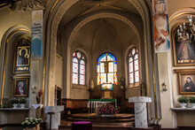 Kalety, Poland May 13, 2021: Interior Of The Parish Church Of St. Joseph In Kalety Jedrysek In The Diocese Of Gliwice.
