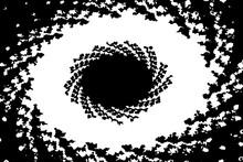 Occhio Astratto Bianco E Nero
