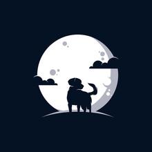 Dog In The Moon Logo Design