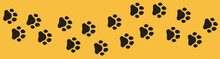 Dog Cat Paw Print Vector. Paw Print Foot Trail Vector