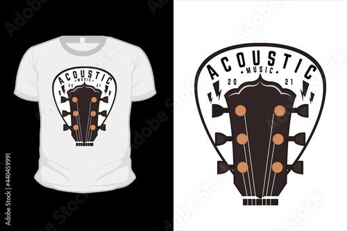 Obraz na plátně acoustic music illustration t shirt design with guitar
