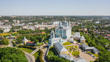 Aerial View Of Uspensky Cathedral In Smolensk