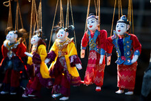 Colorful Burmese Puppets