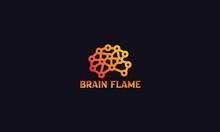 Fire Flame Idea Logo And Icon Design
