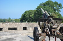 German Artillery Gun From World War II, The Atlantic Wall, Normandy, France