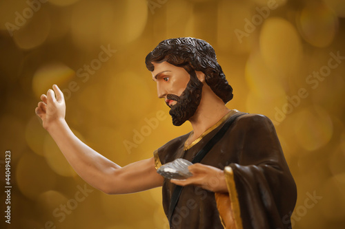 Obraz na plátne Saint John the Baptist catholic image