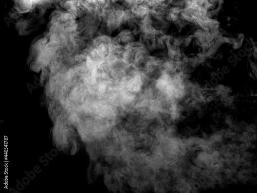 Fotografia smoke steam fog air background shape black cloud background moisture abstract li