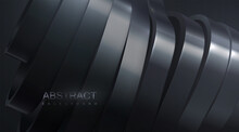 Black Abstract Background With Sliced Surface