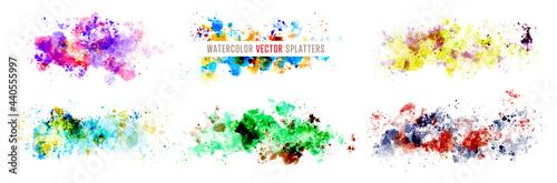 Fotografia watercolor vector splatters