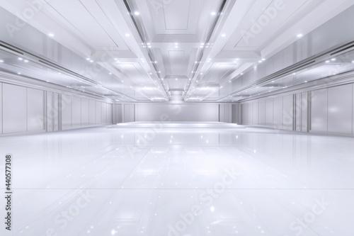 Murais de parede Empty convention hall center with stage