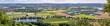 Panorama Blick vom Wittekindsberg Richtung Porta Westfalica und Bad Oeynhausen im Sommer 2021