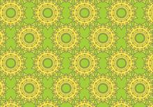 Colourful Yellow Green Flower Background Texture  Template Gradient Design Wallpaper Poster Banner