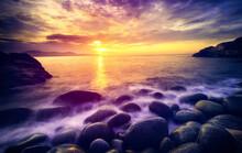 Dawning Over Rocky Coastline