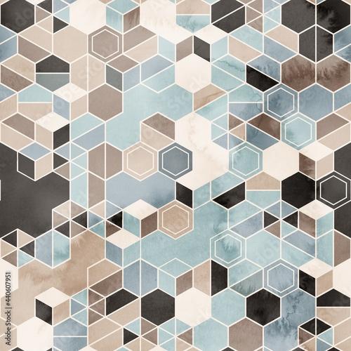Tapety Futurystyczne  bezproblemowa-nieczysty-szesciokatny-wzor-izometryczny-geometria-netto-wydruku-ilustracja-wysokiej-jakosci-minimalny-uklad-siatki-technicznej-szczegolowa-skomplikowana-modna-grafika-do-projektowania-powierzchni-i-nadruku