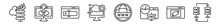 Outline Set Of Web Hosting Line Icons. Linear Vector Icons Such As Improve, Tech Support, Edit Text, Feature, Domains, Raid. Vector Illustration.