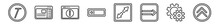 Outline Set Of User Interface Line Icons. Linear Vector Icons Such As Italics, Sidebar, Information Button, Text In, Expand Tool, Top Button. Vector Illustration.