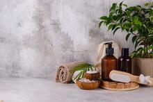 Reusable Skincare Accessorize. Zero Waste Sustainable Lifestyle Concept