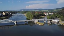 Aerial View Of Piestany, Slovakia.