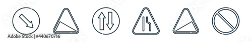 Fotografie, Obraz outline set of signaling line icons