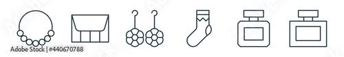 Fotografie, Obraz outline set of accessory line icons