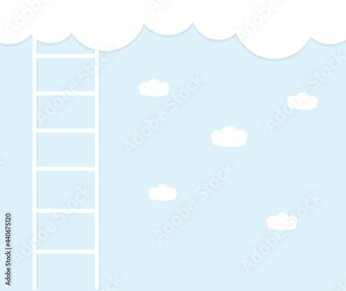 Fotografie, Obraz design about stairs to the clouds