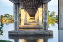 Bridge Over River On Dusk