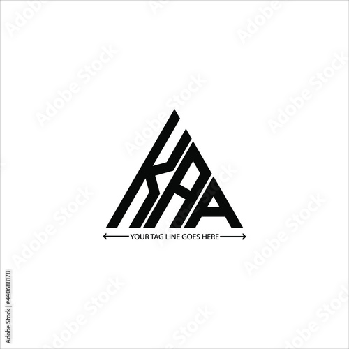 Canvas Print KAA letter logo creative design. KAA unique design