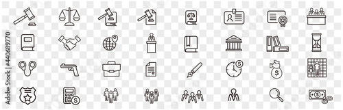 Fotografia, Obraz Lawyer and justice icons set vector