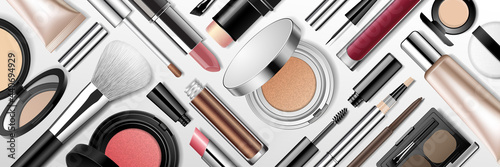 Fotografie, Obraz Beauty makeup banner.