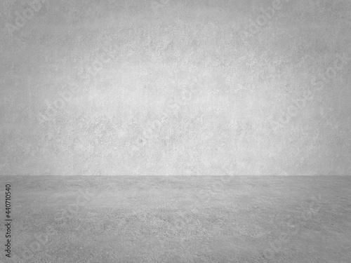 empty gray interior with concrete wall