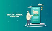 Online Qurban Illustration To Celebrate Eid Al-Adha Concept