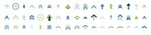 Swipe Up Icon Set. Isolated Arrows Vector Move Up Logo