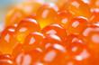 Leinwandbild Motiv close-up view of red caviar