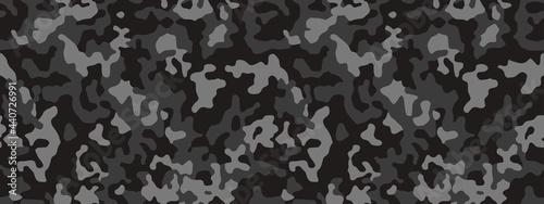 Tela Camouflage pattern background, seamless vector illustration