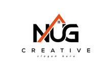 NUG Letters Real Estate Construction Logo Vector