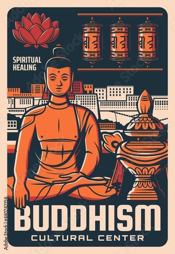 Fotografie, Obraz Buddhism religion cultural center poster