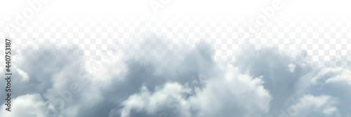 Foto Vector realistic isolated cloud sky for template decoration and covering on the transparent background