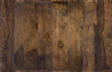 Wood Background From Old Planks. Wooden Texture Of Vintage Weathered Reclaimed Barn Wood, With Rusty Nails Cracks And Stains, Sharp And Detailed.